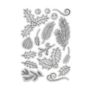 Chloes Creative Cards Winter Foliage Stamp and Die Set