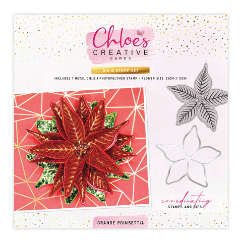 Stamps by Chloe Grande Poinsettia Stamp and Die Set