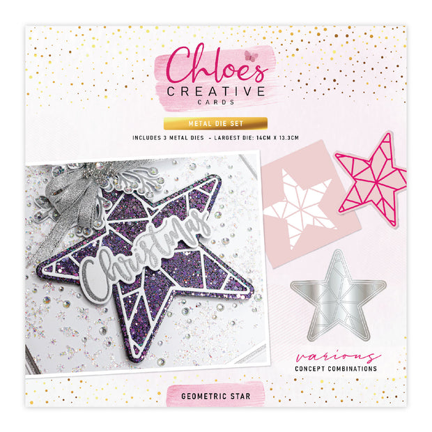 Chloes Creative Cards Metal Die Set - Geometric Star