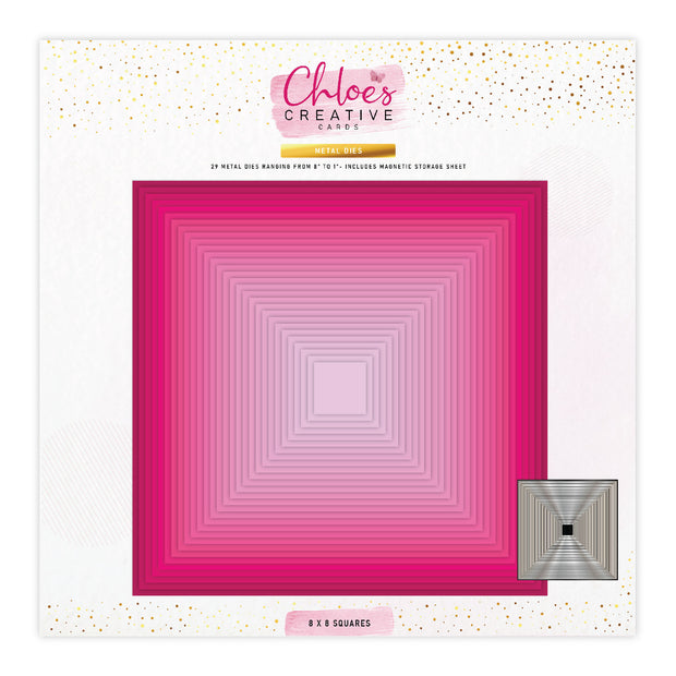 Chloes Creative Cards Metal Die Set - 8 x 8 Basic Squares