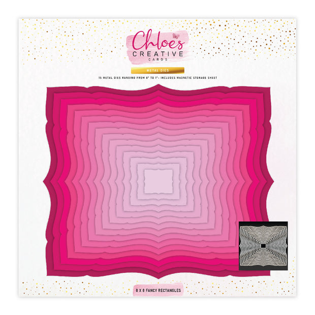 Chloes Creative Cards Metal Die Set - 8 x 8 Fancy Rectangles