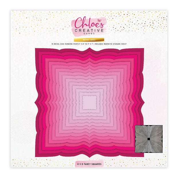 Chloes Creative Cards Metal Die Set - 8 x 8 Fancy Squares