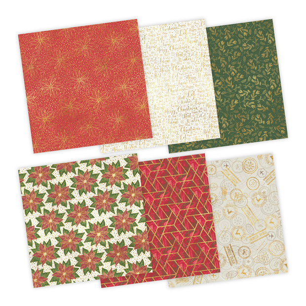 Chloes Creative Cards Festive Fancies 8x8 Foiled Paper Paper