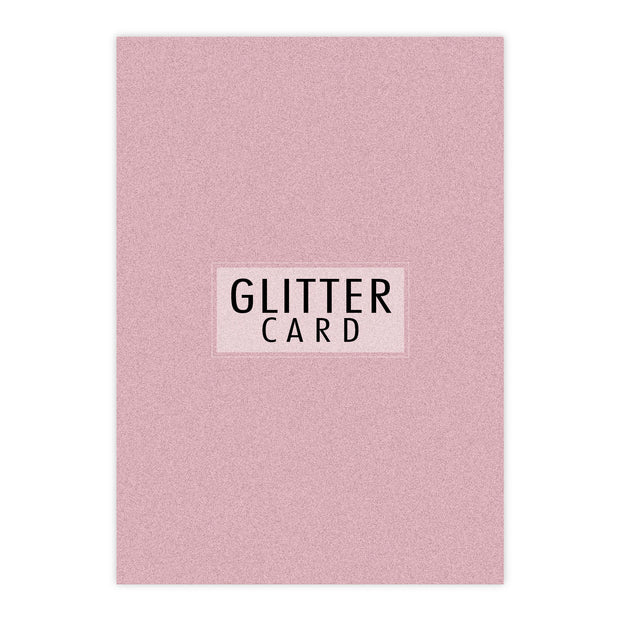 Chloes Creative Cards A4 Glitter Card - Rose Quartz