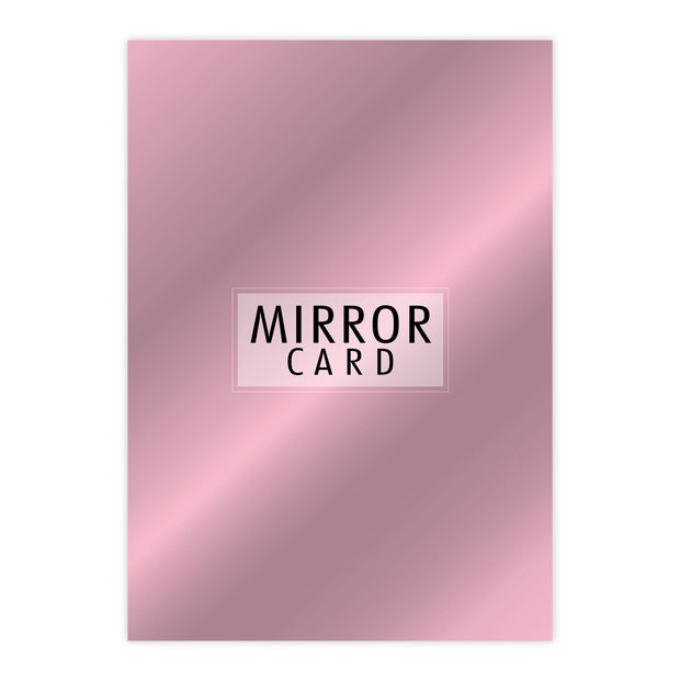 Chloes Creative Cards A4 Mirror Card - Rose Quartz