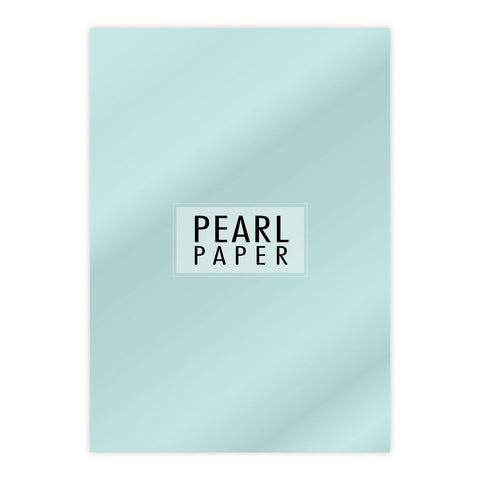 Chloes Luxury Pearl Paper 10 Sheets Aquamarine