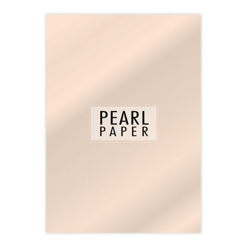 Chloes Luxury Pearl Paper 10 Sheets Coral
