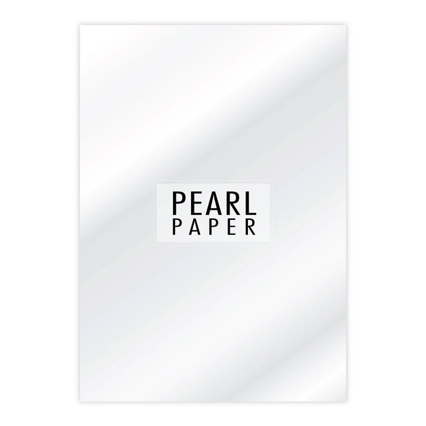 Chloes Luxury Pearl Paper 10 Sheets Crystal White