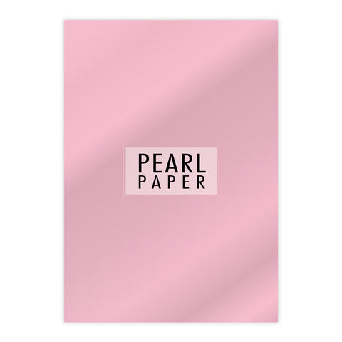 Chloes Luxury Pearl Paper 10 Sheets Rose Quartz