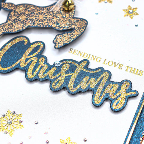 Chloes Creative Cards Die & Stamp Set - Christmas Sentiment Builder