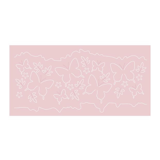 Dies by Chloe Beautiful Butterfly Border Metal Cutting Die