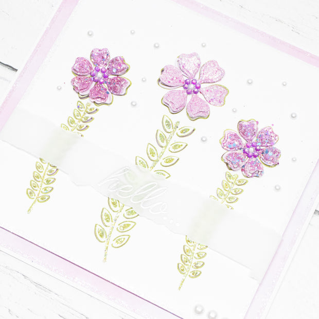 Dies by Chloe Flower Stems Metal Cutting Die