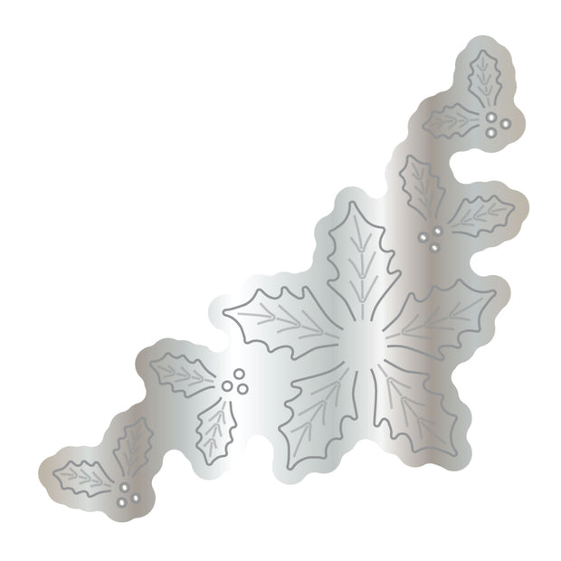 Dies by Chloe Holly Flower Corner Metal Cutting Die