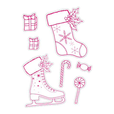 Dies by Chloe Mini Christmas Stocking and Ice Skate Die Set