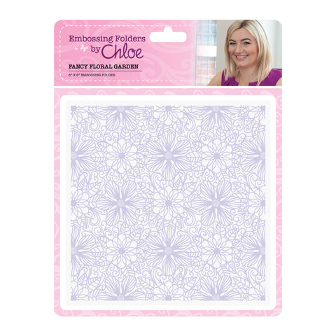 Embossing Folder by Chloe 6 x 6 Fancy Floral Garden