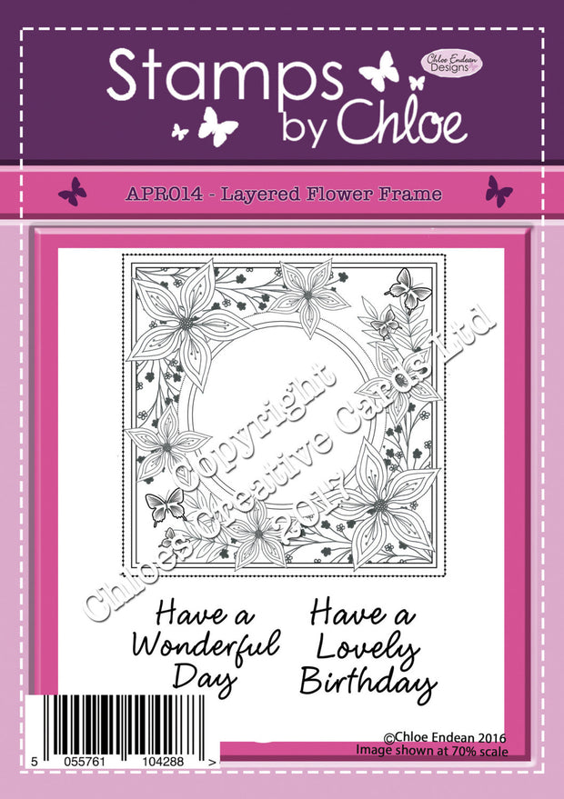 Stamps by Chloe Layered Flower Frame Clear Stamp Set