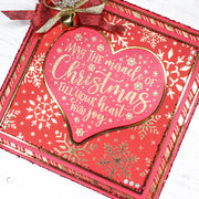 Chloes Creative Cards Photopolymer Stamp Set - Miracle of Christmas Heart