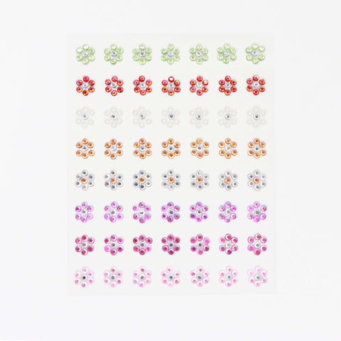 Craft Buddy Self Adhesive Mixed Rhinestone Flowers