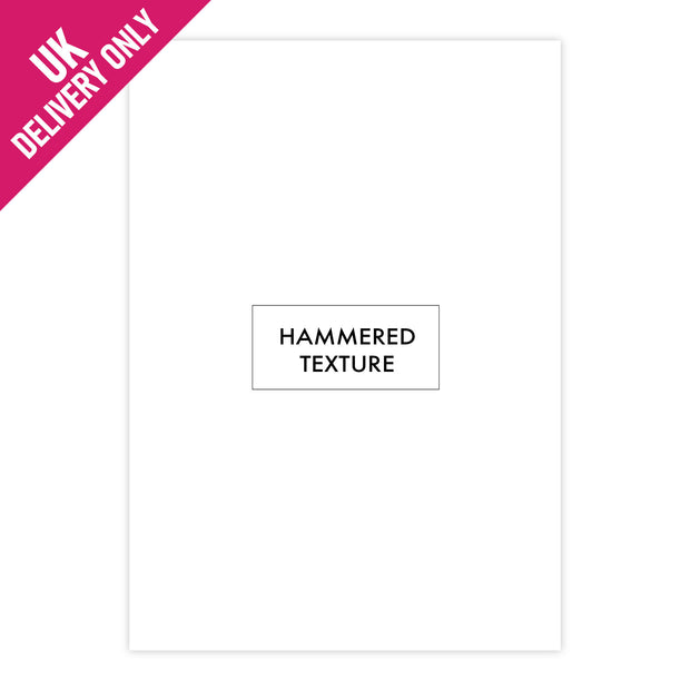 Craft UK A4 White Hammered Card