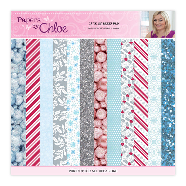 Papers by Chloe - 12x12 Christmas Sparkle Designer Printed Paper Pad