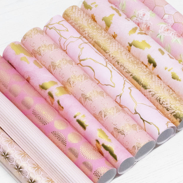 Papers by Chloe 8x8 Raspberry Pink Luxury Foiled Paper Pad