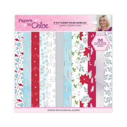 Papers by Chloe - 8x8 Christmas Sparkle Luxury Foiled Paper Pad