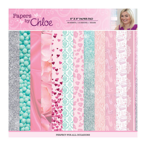 Papers by Chloe Fashion 8x8 Designer Printed Paper Pad