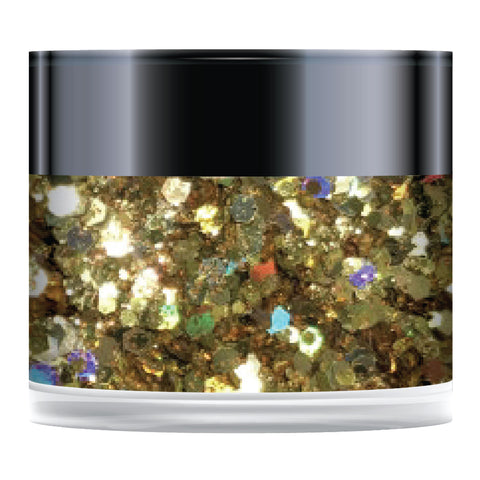 Stamps by Chloe Gold Rush Sparkelicious Glitter 2oz Large Jar