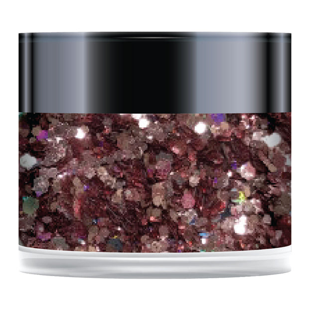 Stamps by Chloe Pink Champagne Sparkelicious Glitter 1/2oz Jar