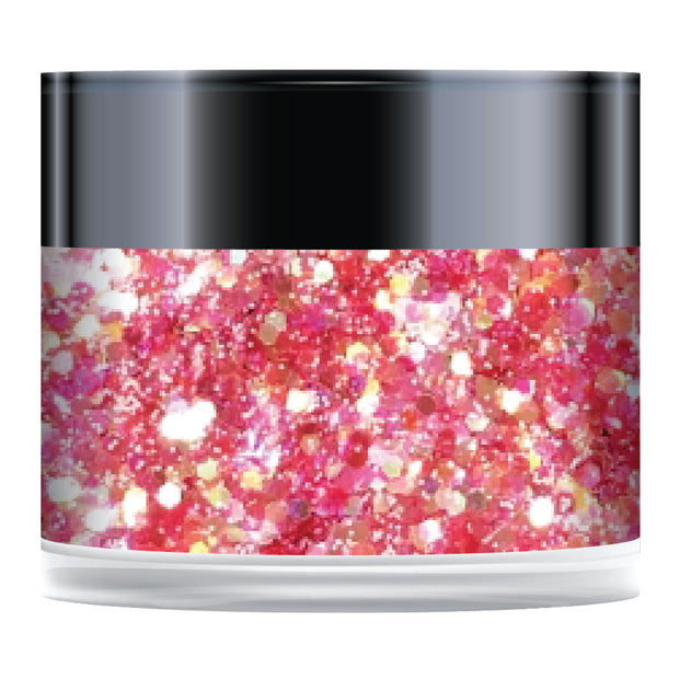 Stamps by Chloe Strawberry Sorbet Sparkelicious Glitter 1/2oz Jar