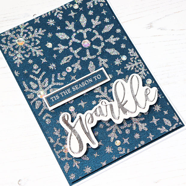 Chloes Creative Cards Stencil (8 x 8) - Sparkling Snowflakes