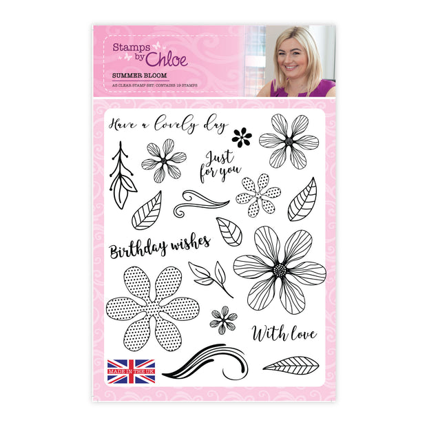 Stamps by Chloe Summer Blooms A5 Stamp Collection