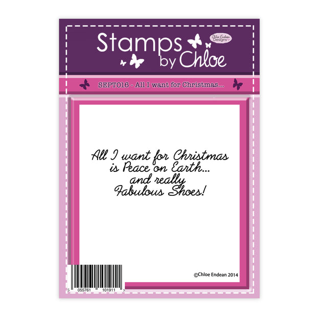 Stamps by Chloe All I Want for Christmas Clear Stamp