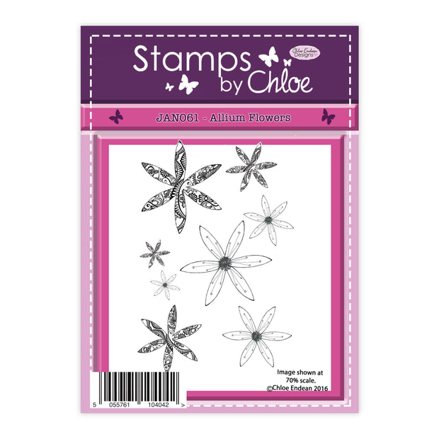 Stamps by Chloe Allium Flowers Clear Stamp