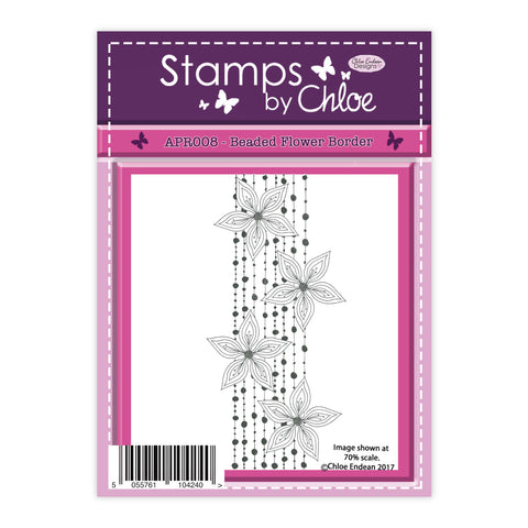 Stamps by Chloe Beaded Flower Border Clear Stamp