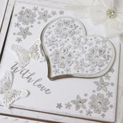 Stamps by Chloe Blossoming Heart and Corner Clear Stamp Set