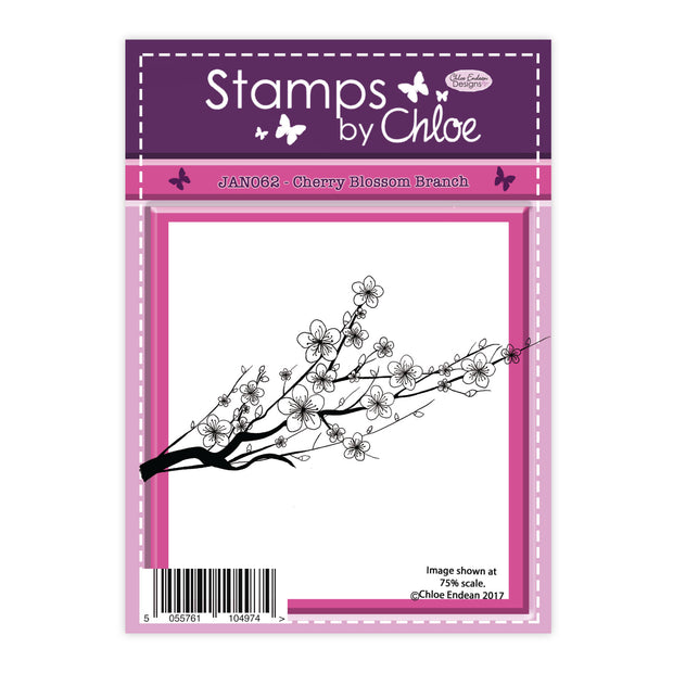 Stamps by Chloe Cherry Blossom Branch Clear Stamp