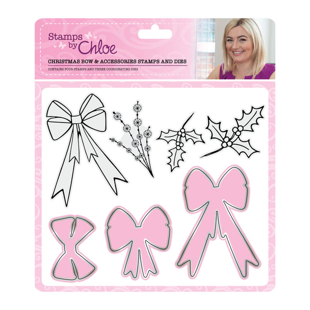 Stamps by Chloe Christmas Bow and Accessories Stamp and Die