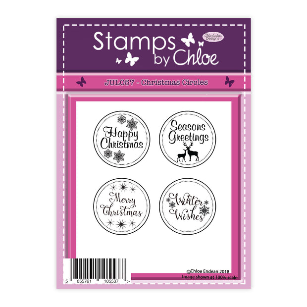 Stamps by Chloe Christmas Circles Clear Stamp