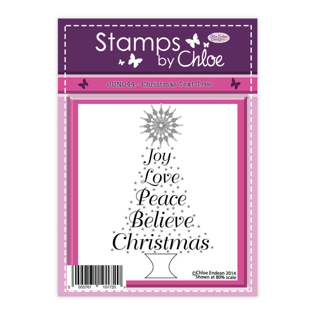 Stamps by Chloe Christmas Text Tree Clear Stamp