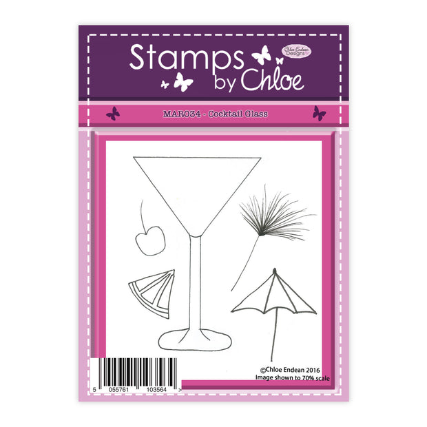 Stamps by Chloe Cocktails Glass Clear Stamp