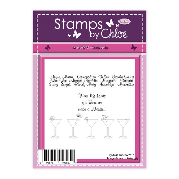 Stamps by Chloe Cocktails Clear Stamp