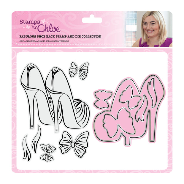 Stamps by Chloe Fabulous Shoe Back Stamp and Die Collection