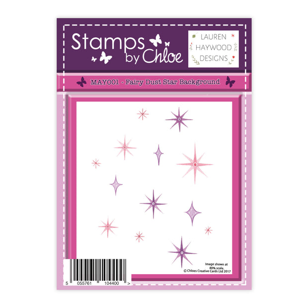 Stamps by Chloe Fairy Dust Star Background Clear Stamp