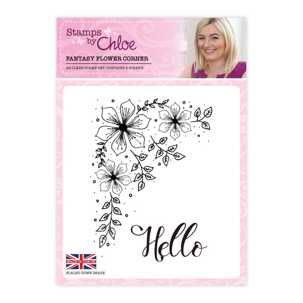 Stamps by Chloe Fantasy Flower Corner Clear Stamp