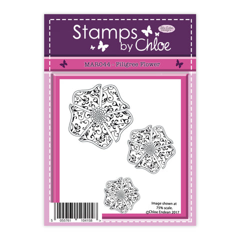 Stamps by Chloe Filigree Flower Clear Stamp