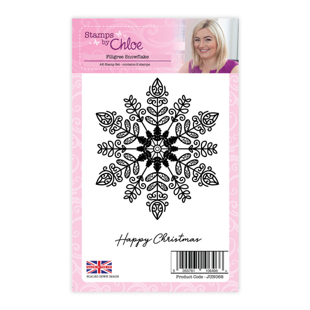 Stamps by Chloe Filigree Snowflake Clear Stamp