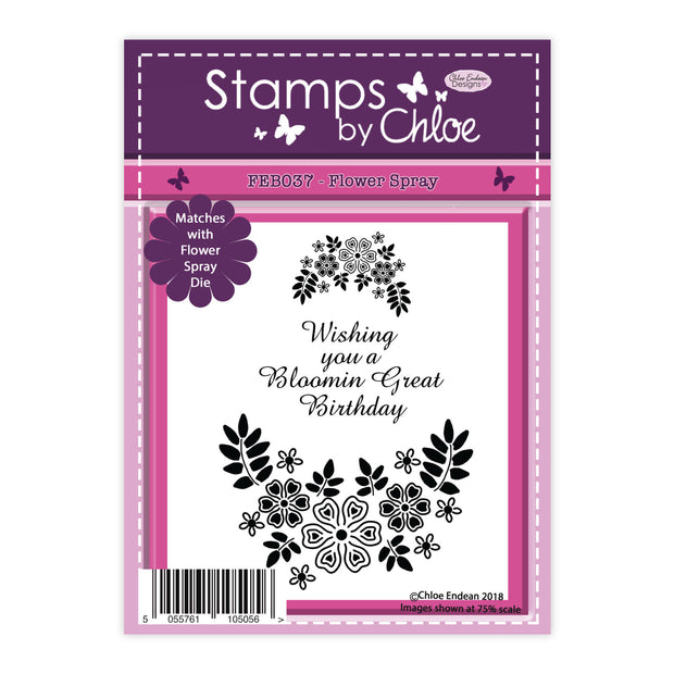 Stamps by Chloe Flower Spray Clear Stamp