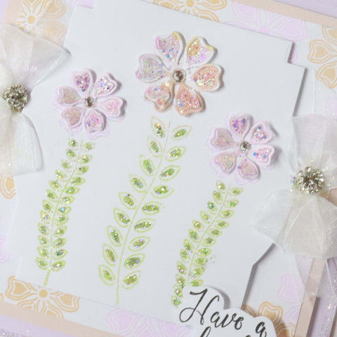 Stamps by Chloe Flower Stems Clear Stamp
