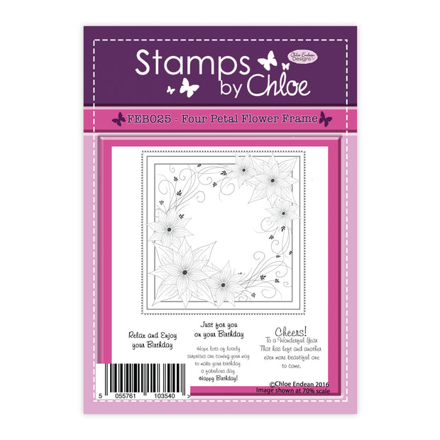 Stamps by Chloe Four Petal Flower Frame Clear Stamp Set